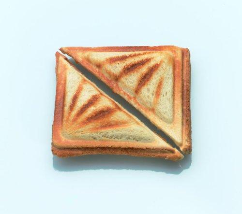 Cloer 6219 Sandwichmaker, 900 W für 2 diagonal geteilte Toasts, optische Fertigmeldung, silber